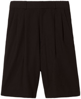 Bassike Tailored Piqué Shorts in Black, Size 2