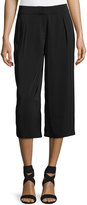 Laundry by Shelli Segal High-Waist Pleated Culotte Pants, Black