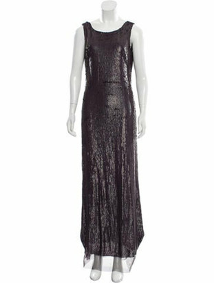 Tom Ford Sequin Open Back Gown Plum