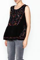 Umgee USA Sleeveless Embroidered Top