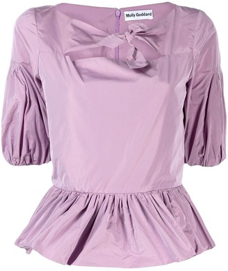 Molly Goddard Keyhole Ruched Blouse