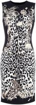 Roberto Cavalli leopard print fitted dress - women - Spandex/Elastane/Viscose - 42