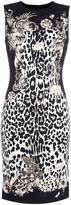 Roberto Cavalli leopard print fitted dress