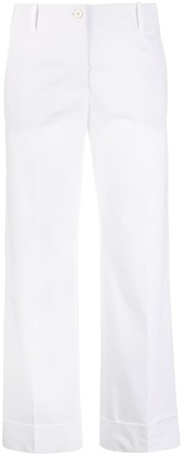 Alberto Biani Straight-Leg Cropped Trousers