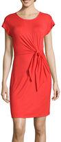 Spense Short-Sleeve Knot-Waist T-Shirt Dress