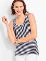 Talbots Pima Cotton-Blend Tank-Stripe