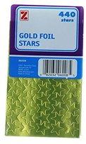 Z-Brand Gold Foil Stars Stickers Labels 1/2 Teacher Crafts 440 Total (1pack)