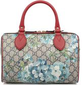 Gucci Sand/blue/red Mini Gg Blooms Supreme Top Handle Bag