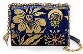 Tory Burch Fleming Cosmic Floral Small Velvet Shoulder Bag