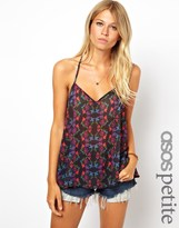 Asos Exclusive Backless Cami In Print