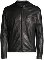 John Varvatos Slim-Fit Leather Moto Jacket