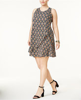 Eyeshadow Trendy Plus Size Layered Tie-Back Dress