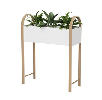 Umbra Grove Elevated Garden Bed And Storage Box - White/Natural
