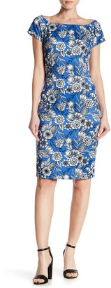 Alexia Admor Short Sleeve Floral Print Bodycon Dress