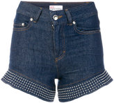 RED Valentino high-waisted denim shorts