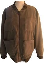 Anine Bing Khaki Cotton Leather Jacket for Women