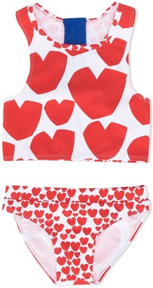Stella McCartney Hearts print bikini set