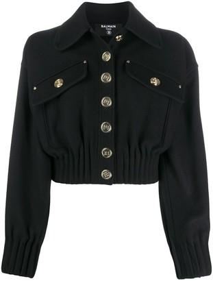 Balmain Cropped Wool Jacket