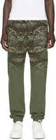 Marcelo Burlon County of Milan Green and Brown Banes Lounge Pants