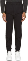 Alexander McQueen Black Raw Edge Lounge Pants
