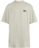Vetements Unidad Hombres-embroidered T-shirt