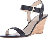 Nine West Women's Kiani Leather Wedge Sandal