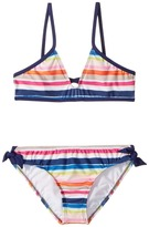 Splendid Littles Watercolor Horizon Bralette Hipster w/ Ties Girl's Swimwear Sets