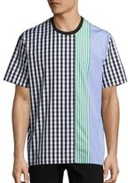 MSGM Striped & Gingham Checked Tee