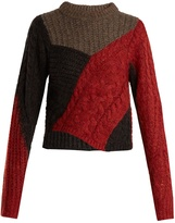 Etoile Isabel Marant Daryl contrast cable-knit sweater