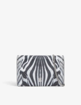 Burberry Jessie leather card case with chain