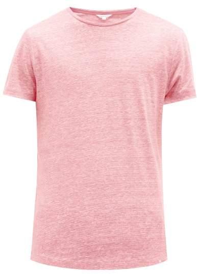 Orlebar Brown Ob T Linen T Shirt - Mens - Pink