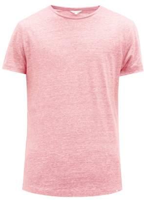 Orlebar Brown Ob-t Linen T-shirt - Mens - Pink