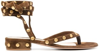 Gianvito Rossi Studded Strappy Sandals