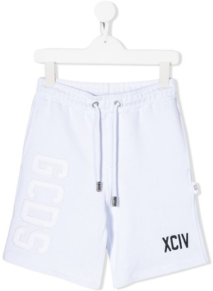 Gcds Kids Logo Patch Track Shorts
