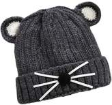 XY Fancy Winter Warm Knitted Hat Cute Cat Beanie Cap for Baby Kids Boys Girls