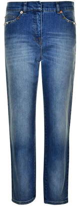 Valentino Cropped Boyfriend Jeans