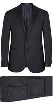 Corneliani Navy Wool Jacquard Tuxedo