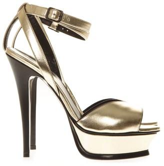 Saint Laurent Tribute 105 Open-toe Leather Sandals 135mm