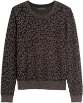 Banana Republic Metallic Leopard Sweater