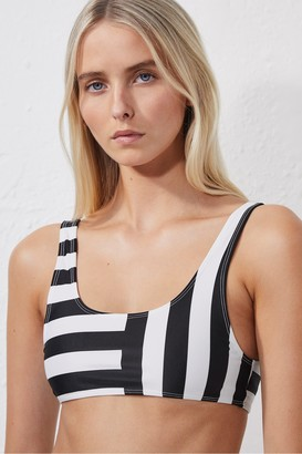 French Connection Block Stripe Crop Top