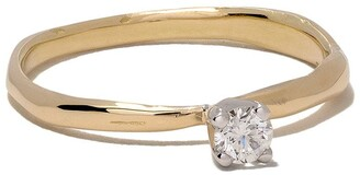 Wouters & Hendrix Gold 18kt white and yellow gold Diamond ring