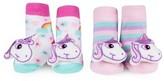 Infant Waddle & Friends 2-Pack Unicorn Rattle Socks