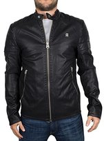 G Star Men's Suzaki Faux Leather Moto Jacket