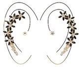 Charlotte Russe Flower Ear Crawler & Stud Earrings Set