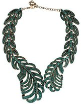 Oscar de la Renta Pavé Crystal Feather Wrap Necklace