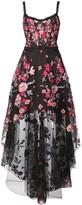 Marchesa floral applique high low gown