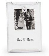 Mud Pie Wedding Collection Mr. & Mrs. Clip Frame