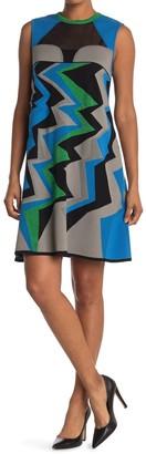 M Missoni Geometric Colorblock Shift Dress