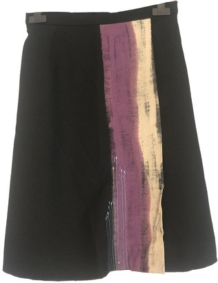 Christian Lacroix Black Wool Skirt for Women Vintage