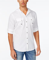 INC International Concepts Men's Langston Herringbone Hoodie Shirt, Only at Macy's